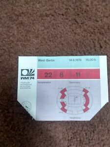 1974 FIFA World Cup (West Germany) 06/14 Group 1 game ticket West Germany-Chile