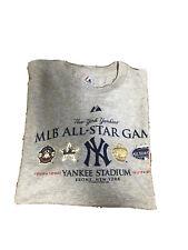 Men's Majestic MLB NY NEW YORK YANKEES All Star GREY SHORT SLEEVE Tshirt XL