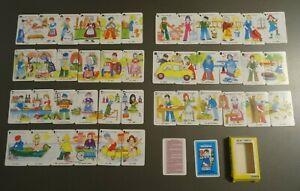 JEU DE 7 FAMILLES puzzle METIERS  BE 2000 FRANCE CARTES