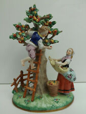 Rare Sitzendorf Apple Pickers Figurine