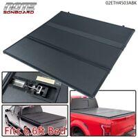 FOR Chevy Silverado GMC Sierra 2007-2014 6.6ft Bed Hard tri-fold Tonneau Cover