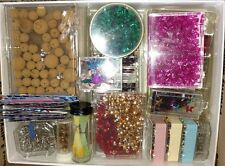 HUGE Craft Lot - Beads,Sequins,Cork Balls,Findings,Pins -3 Layers See all Pics