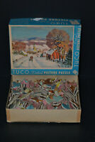 """Puzzle Vintage TUCO """"An Old Fashioned Winter"""" Vintage Jig Picture Puzzle 16""""x20"""""""