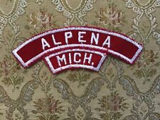 Boy Scout ALPENA MICH Community Shoulder Strip RWHS Red White