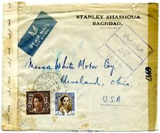 1944. Censored envelope from Baghdad (Iraq) to the US. 2nd WW