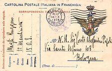"""C3785) WW1 MARINA, ANNULLO """"R. TORPEDINIERA 15 O.S."""" VG 18/10/16 DA VENEZIA."""