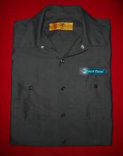PARK TOOL Mechanic WORK Shirt RED KAP Button Up BLACK Pocket Mens NEW Large LG