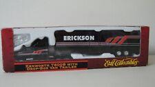 ERTL #4518 Erikson HO Scale Diecast Kenworth T600B with Drop Box Van Trailer NIB
