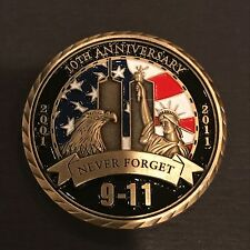 RARE 9/11 WTC 10TH ANNIVERSARY MILITARY NOT NYPD CHALLENGE COIN