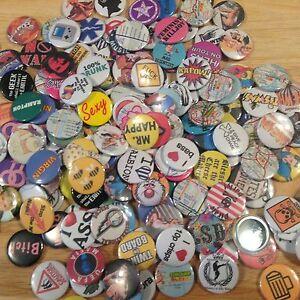 Random 20 X 25mm Button Badge Lucky Dip Bundle Packs
