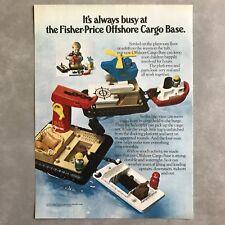 1979 Fisher Price Toys Offshore Cargo Base Vintage Photo Print Magazine Ad