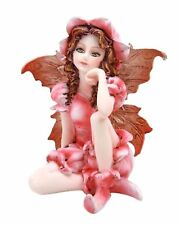 "Miniature Azalea Pink Garden Fairy Figurine Statue 3"" H Small Faery Collection"