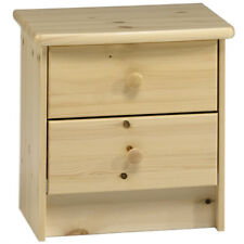 madera maciza 2 cajones/Mesita de noche / Cofre almacenamiento - Pino zsfmark002