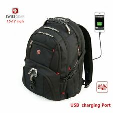 "Black 15.6"" Swiss Gear Backpack Computer Laptop School Bag Travel Backpack QV"