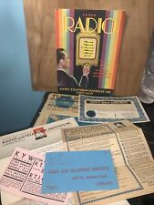 1929 Learn Radio At Home! Radio And Television Institute Chicago. Application!