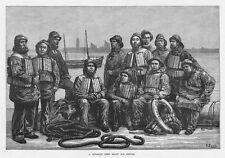 Victoriano Bote Salvavidas Redondo: Listo para Servicio-Antiguo impresión 1881