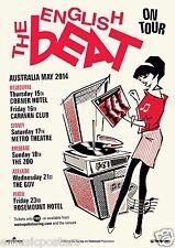 "THE ENGLISH BEAT ""ON TOUR"" 2014 AUSTRALIAN CONCERT POSTER- 2 Tone, Ska, New Wave"