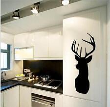 Removable Black Deer Design Wall Art Sticker Kids Home Decor Diy Kid Child Vinyl
