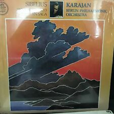 SIBELIUS KARAJAN Berlin Phil Symphony No 5 En Saga QUADRAPHONIC SEALED Lp Record