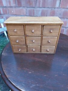Handmade Crafted Small Chest Of 12 Drawers Stotage Unit
