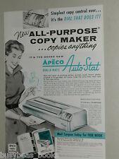 1956 Apeco photocopier ad, Dial-a-Matic Auto-Stat