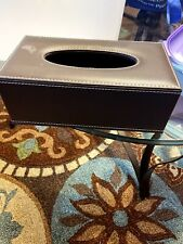 """PU Leather Tissue Box Cover Case Holder for 3.1"""" Tall Tissue Boxes (Brown)"""