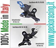 Pedane Ducati Monster 696 796 1100 regolabili arretrate | GeckoRacing