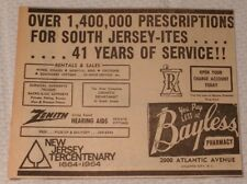 1964 Bayless Pharmacy Atlantic City New Jersey Advertisement