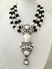 """Chris Crouch's Moans Couture Art Glass Blackamoor Necklace/pin 7"""""""