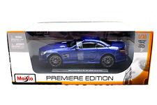 MAISTO 2012 MERCEDES SL 63 AMG BLUE 1/18 DIECAST CAR  36199BL