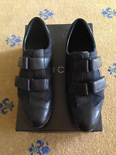 GUCCI WOMENS TRAINERS SNEAKERS LEATHER CANVAS SHOES UK 4.5 US 6.5 37.5 LADIES