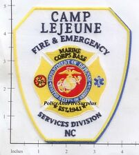 North Carolina - Camp LeJeune Fire & Emergency Services NC Fire Dept Patch USMC