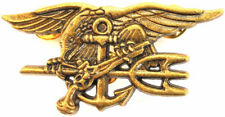 "Us Navy Seal Badge Trident insignia - Bud - Antique Size 2 3/4"" inch"