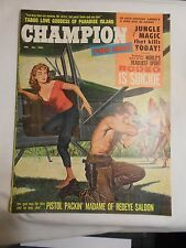 -CHAMPION FOR MEN MAGAZINE-FEBRUARY,1960-MEN'S INTEREST VINTAGE PULP