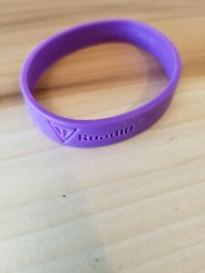 NEW Road ID Silicone Band Purple LARGE Safety Wrist Hand Run Bike Swim RoadID