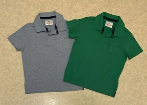 2 Hanna Andersson Boys 80 (10-24Months) Striped Short Sleeve Knit Polos w Pocket