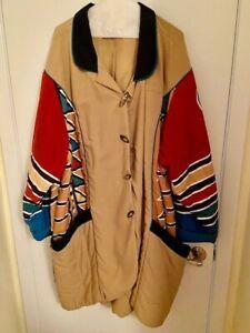 Walt Disney World Animal Kingdom Cast Member Tribal Overcoat Costume Jacket XXL