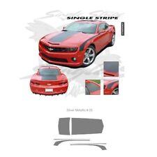 Chevrolet Camaro 2010-2013 Hood Rear Deck Side Stripes Graphic Kit - Silver