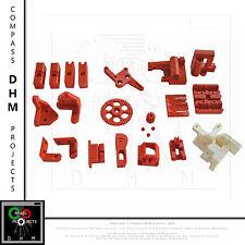 Kit complet de pièce imprimée pour Prusa i3 Rework ROUGE imprimante 3D