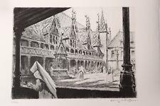 Beaune Hospices Hotel-Dieu Eau-forte originale par Henry Cheffer 1943 200 ex. 2