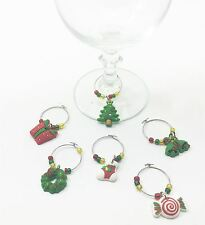 Christmas Xmas Wine Glass Charms Ring Earing Hoop Table Decoraton Hen Party Idea