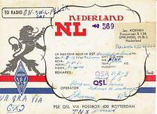 Very old QSL from Jac. Koenen, Dorpstraat, Sprundel, Nederland (NL-569) 2/5/1940