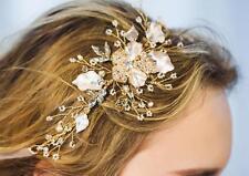 Beaded Hair Halo Diamante Wedding Hair Vine Crystal Bridal Accessories 1 Piece