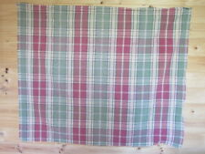 New unused piece of green/red/yellow checked cotton polyester blend fabric