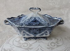 Zuppiera di ceramica Centrotavola Ford & Sons England Flow Blue Tureen c1900