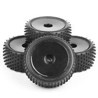4pcs 1/10 Buggy Tires Front & Rear Rubber Tyre Wheel Rim Fit HSP RC Off-Road Car