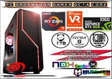 Ordenador Gamer Ryzen 7 Octa Core 3.7Ghz 8GB Ram 1TB Disco Grafico GTX1060 6gb