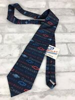 """New! Chevrolet Chevy Genuine Logo Tie by Wally Wear Polyester Blue Red 56x3.5"""""""