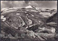 BOLZANO BOZEN STELVIO 53 STILFS PASSO Cartolina FOTOGRAFICA viaggiata 1952