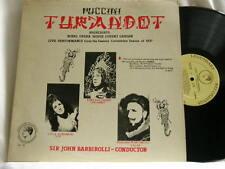 PUCCINI Turandot EVA TURNER Giovanni Martinelli Licia Albanese Barbirolli LP